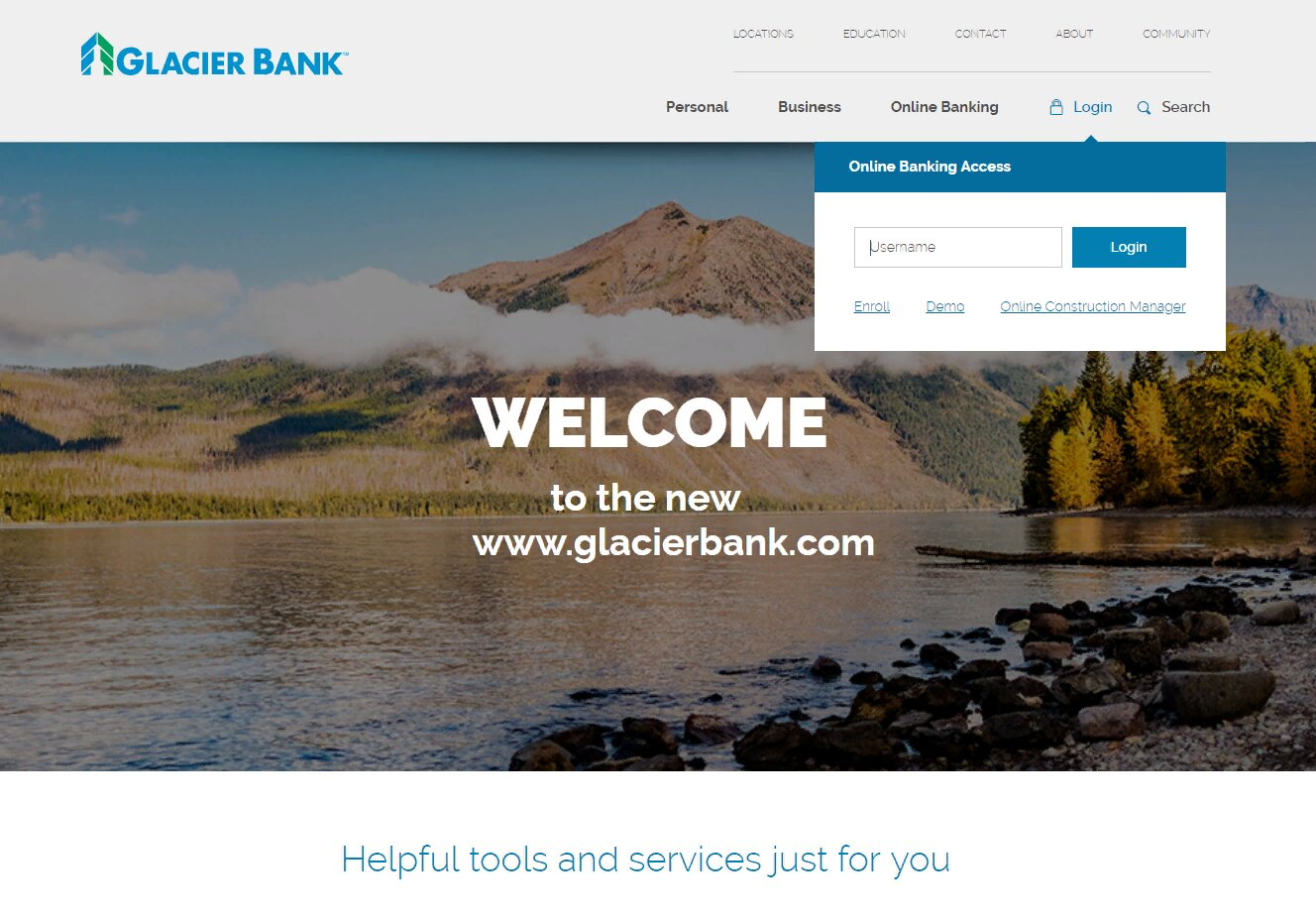 Glacier Bank login